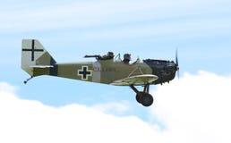 Historische Flugzeuge der deutschen Klapperkisten Stockbild