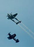 Historische Flugzeuge im mitten in der Luft Stockfoto