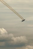 Historische Flugzeuge im mitten in der Luft Stockfotografie