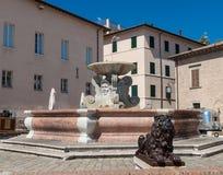 Historische fontein stock fotografie