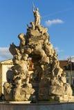 Historische fontein in Brno royalty-vrije stock afbeelding