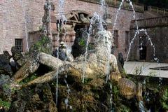 Historische fontein in Heidelberg, Duitsland Stock Foto's