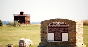 Historische fort het Noord- van Dakota stock afbeeldingen
