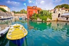 Historische Fosa-Bucht in Zadar Lizenzfreie Stockfotografie