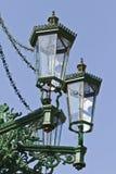 Historische gaslantaarnpaal in Praag Royalty-vrije Stock Afbeelding