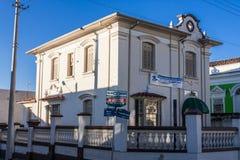 Historische Gebäude in Amparo Stockbilder
