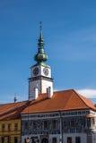 Historische Gebäude auf Charles quadrieren in TÅ™ebÃÄ- lizenzfreies stockfoto