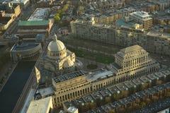 Historische Gebäude Bostons Stockfotografie