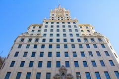 Historische Gebäude in der Stadt von Madrid, Spanien stockbilder