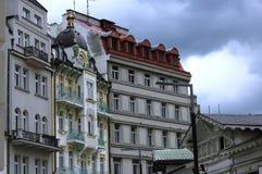 historische Gebäude in der Tschechoslowakei Stockbilder