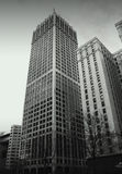 Historische Gebäude in Detroit im Stadtzentrum gelegen Stockfotos
