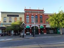 Historische Gebäude in im Stadtzentrum gelegener Victoria, Kanada lizenzfreie stockfotografie