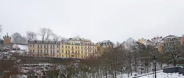 Historische Gebäude Karlovy Varys stockfotos