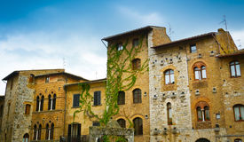 Historische Gebäude San Gimignanos Stockfotografie