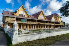 Historische Gebäude um Georgetown, Guyana Stockbild