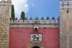 Historische Gebäude und Monumente von Sevilla, Spanien Spanische Baustile von gotischem und von Mudejar Der Alcazar von Sevilla Stockfotos