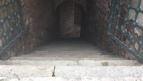 Historische Gebäudetreppe stock video footage