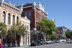 Historische Geb?ude in im Stadtzentrum gelegener Victoria, Kanada stockfotos