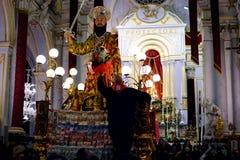 Historische gebeurtenis aan Palazzolo Acreide, Royalty-vrije Stock Afbeeldingen