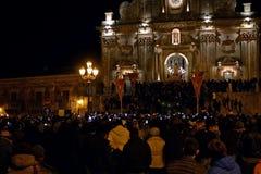 Historische gebeurtenis aan Palazzolo Acreide, Stock Foto's