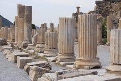 Historische gebiedsEphesus, Turkije Royalty-vrije Stock Afbeelding