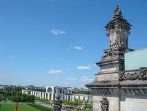 Historische gebouwen in Berlijn: Reichstag - het Duitse Parlement royalty-vrije stock afbeeldingen