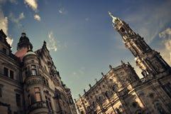 Historische gebouwen in Dresden Stock Foto