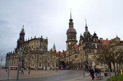Historische gebouwen Dresden royalty-vrije stock foto's