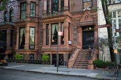Historische Gebouwen in Gramercy-Park, de Stad van Manhattan, New York royalty-vrije stock foto