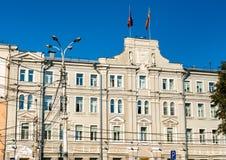 Historische gebouwen in het stadscentrum van Voronezh, Rusland royalty-vrije stock afbeeldingen