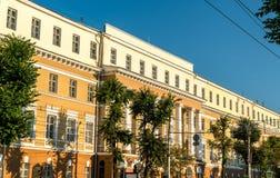 Historische gebouwen in het stadscentrum van Voronezh, Rusland stock foto