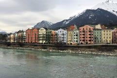 Historische gebouwen in Innsbruck Stock Foto's