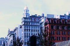 Historische gebouwen in Manhattan New York de V.S. royalty-vrije stock fotografie