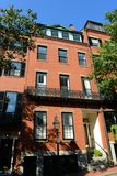 Historische Gebouwen op Beacon Hill, Boston, de V.S. stock fotografie