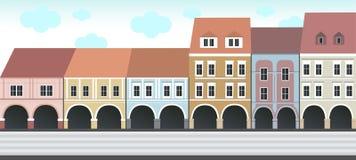 Historische gebouwen op het vierkant Stock Fotografie