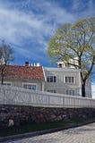 Historische gebouwen in Oslo in de lente Royalty-vrije Stock Afbeeldingen