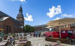 Historische gebouwen in Oud Riga royalty-vrije stock afbeelding