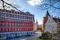 Historische gebouwen van Riga royalty-vrije stock foto