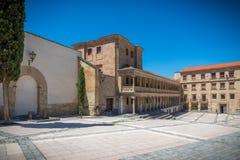 Historische gebouwen van Salamanca Stock Foto's