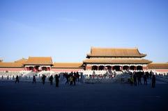 Historische Gebouwen in Verboden Stad, Peking, China Royalty-vrije Stock Foto's