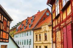 Historische gebouwen in Wolgast, Mecklenburg Westelijke Pomerania, Duitsland Stock Afbeelding