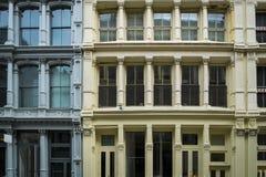 Historische Gebäude in New York City Soho-Bezirk Stockfotografie