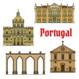 Historische Gebäude und Besichtigungen von Portugal Lizenzfreie Stockbilder