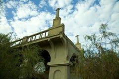Historische gevallen brug Royalty-vrije Stock Afbeelding