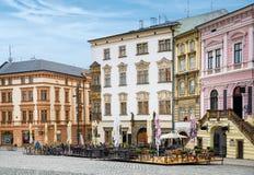 Historische gezichten van Olomouc Stock Foto's