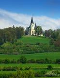 Historische Gotische kerk Stock Foto