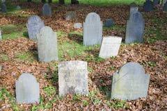 Historische Gräber bei Quincy, MA Lizenzfreies Stockfoto