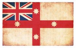Historische grungevlag van Australië 1830 Royalty-vrije Stock Foto's