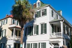 Historische Häuser in Charleston, Sc stockfoto