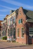 Historische Häuser am Hafen von Blokzijl Lizenzfreies Stockfoto